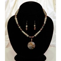 Rutilated Quartz Necklace and Earing set